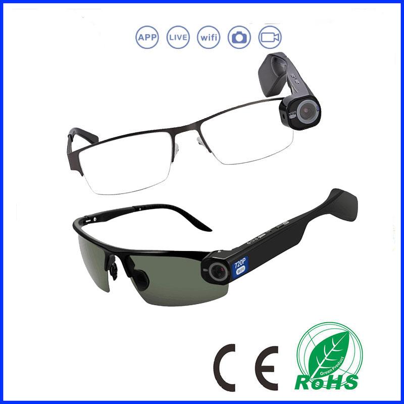 Live Streaming Smart Camera Glasses
