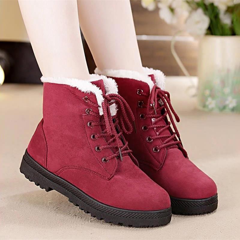 Women's Snow Boots Suede Shoes