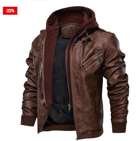 Fashionable Leather Bomber Jacket For Men